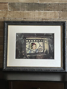Framed Disney Animation Cel Snow White Is Anyone Home Rare Ltd Ed Art Cell #73
