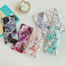 Geometric Marble Case For Huawei P20 Lite P30 Pro P40 With Pop Up Holder Socket