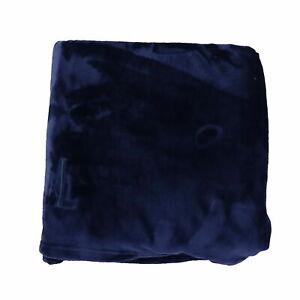Ralph Lauren Throw Microfiber Throw Blanket Micromink Rl Logo Blue Nwt New 50x70