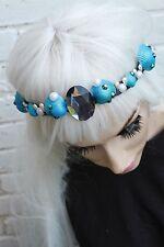 Mermaid Pearl Crown Blue Sea Shell FESTIVAL HEAD BAND PASTELLO gobbolino