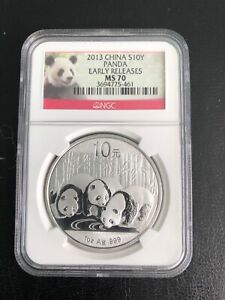 2013 PANDA10Y SILVER EARLY RELEASES NGC- MS-70 RARE