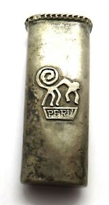 Vintage Silver Peru Holder - Engraved To Our Co-ordinator With Love The Phantoms