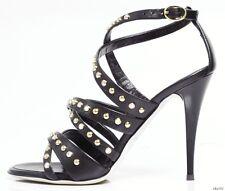 new $795 Giuseppe ZANOTTI black X-straps JEWELED STUDDED shoes 36 6 - sexy