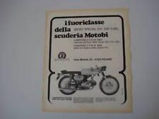 advertising Pubblicità 1969 MOTOBI 250 SPORT SPECIAL