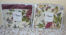 "JCPenny Home Antique Rose Drape/Panel Pair 84""+ Valance"