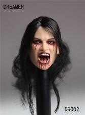 1/6 Dreamer The Vampire Female Head Sculpt For Hot Toys Phicen Female Body
