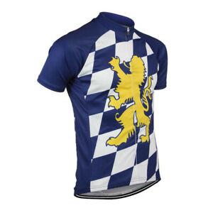 Retro Team Bavarian Cycling Jersey cycling Short Sleeve jerseys