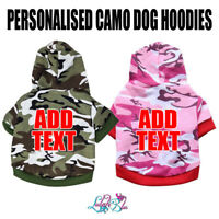 Personalised  Camo Dog Hoodie | Dog Hoody | Puppy | Dog Clothes | Christmas Gift