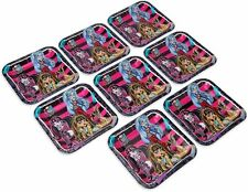 """Monster High 9"""" Square Large Plate 8 Count Party Supplies"""