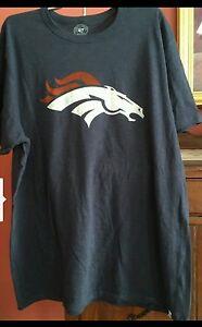 Denver Broncos 47 Brand officially licensed Men's Scrum t-shirt NWT Size Large