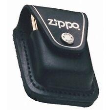 Zippo Black Leather Lighter Pouch With Loop LPLBK Zip850