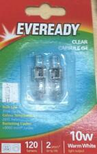 Clear 2 G4 10W Capsule Bulb Replace Light Lamps Energy Saving UV Stop Warm White