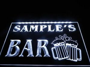 Personalized Custom Name Led Neon Light Sign Home Bar Beer Mug Cheers Gift Decor