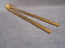 "French Vintage gilded brass Towel RAIL w/ 2 Arms 19"" L"