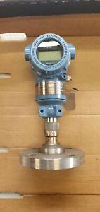 "Rosemount Emerson 3051 Flanged 1 1/2"" Pressure Transmitter Calibrated 0-2 bar"