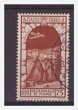 REGNO 1934 - POSTA AEREA  FIUME   Cent. 75  usato