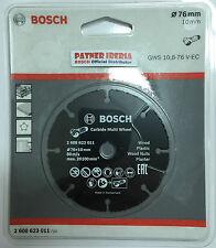 Bosch Carbide Multi Wheel 76mm x 1mm for   GWS 10,8-76 V-EC