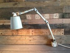 GENUINE 1950'S FACTORY MEMLITE ANGLEPOISE INDUSTRIAL DESK LIGHT LAMP - MACLAMP