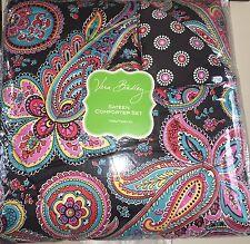 Vera Bradley PARISIAN PAISLEY Sateen Comforter Set Twin XL Bedding NWT 2 PC