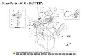 New Ferrari 612,California 12 V-100 AH-850 Battery 191374