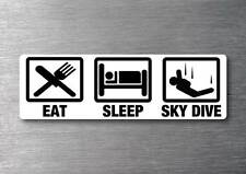 Eat Sleep Sky Dive sticker quality 7 year water & fade proof vinyl parrachute