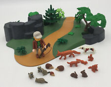 Playmobil 7494 Forest Ranger Foxes, Squirrels, Rabbits, Raccoons.