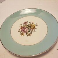 "Vintage Cunningham Pickett Danube China Salad Plate 8.5"" Alliance Ohio Blue"