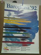 AFFICHE ANCIENNE  JEUX OLYMPIQUE BARCELONE 1992 BARCELONA ESPAGNE JO