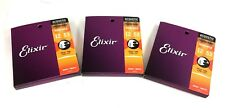 Elixir Guitar Strings Phosphor Bronze Nanoweb Light 12-52 3 Pack