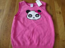NWT GYMBOREE SIZE 10 YEARS TOP PINK KNIT PANDA ACADEMY VEST SHIRT GREAT GIFT