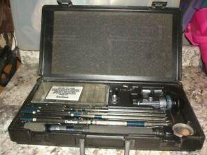 Vintage Daiwa Executive Travel Pack spinning reel fishing rod case NICE Bin 917