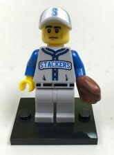 Genuine LEGO Minifigure Baseball Fielder - Complete - from Series 10 - col157