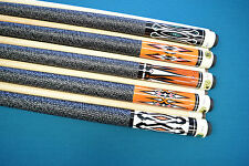 SET OF 5 POOL CUES New 58'' Canadian Maple Billiard Pool Cue Stick #2 PLUS SHIP
