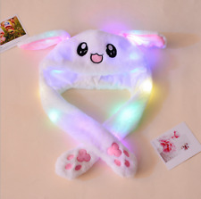Rabbit Cap Glowing Pinching Ear Hat Moving Bunny Cap Light Cosplay Adult Kid USA