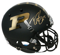 DREW BREES AUTOGRAPHED SIGNED PURDUE BOILERMAKERS BLACK FULL SIZE HELMET BECKETT