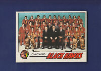 Chicago Blackhawks Team Checklist (Marked) 1977-78 O-PEE-CHEE OPC Hockey #74