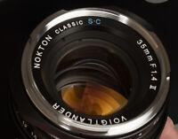 VOIGTLANDER USA WARRANTY 35mm f1.4 II SC NOKTON Ver 2 Leica M