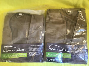 (2) NEW( Never Opened)  Cortland Fly Fishing Vests ,size XL/ XXL