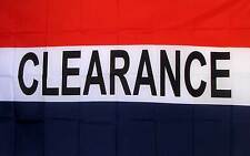 New listing Clearance Flag 3' X 5' Deluxe Indoor Outdoor Business Banner