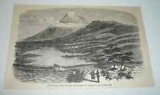 1879 magazine engraving ~ FUSI-YAMA, SACRED MOUNTAIN OF JAPAN ~ Fujiyama