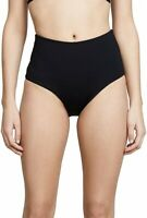 L*Space 170635 Womens Portia High Waist Bottom Swimwear Solid Black Size Large