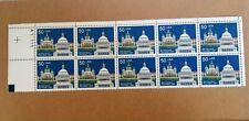 US Scott #2532 Partial Stamp Sheet 50 Cent 50c Switzerland MNH OG FVFV 10 Stamps