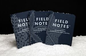 Field Notes Quarterly Edition: Snowy Evening - Flake-Grid 3 Pack Memo Book