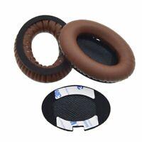Dark Brown Leather Ear Cushion Kit for Bose Around Ear 2 AE2 Headphones Pads