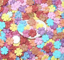 25 Mix 26mm Heart Flower Scrapbook Craft Mulberry Paper Artificial Card Wedding
