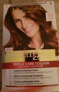 Loreal excellence hair dye 5.5 natural mahogany brown 👌👌👌👌👌