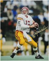 Todd Marinovich Hand Signed Autographed 11x14 Photo USC Two Hands Back Gold Ink