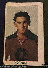 1949 KORNIES VICTORIAN FOOTBALLERS CARD JACK TOOHEY FITZROY CARD # 70 VFL