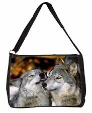 Wolves  in Love Large Black Laptop Shoulder Bag School/College, AW-9SB