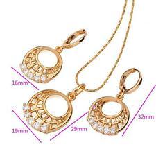 18 K ct Gold Filled Fashion Pendant Necklace + Earring Set  - 2 piece set